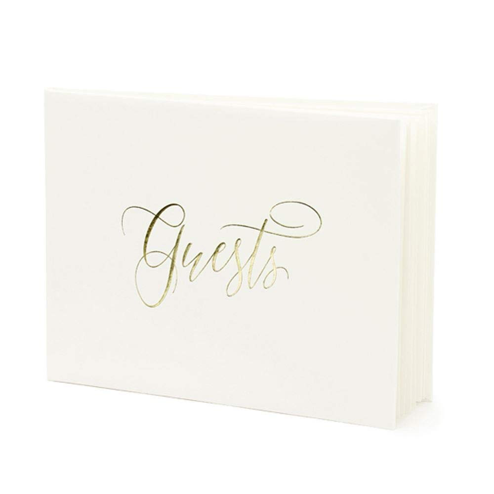Guest book Light cream with Gold 'Guests' 22 pages Wedding
