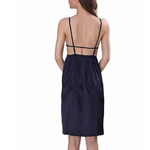 up string Underwear Fashion Colore Lace Adeshop Abiti Dress Babydolls Lingerie Elasticity Pure Slim donne Sling G Blu Backless Per le Maglie Camicie elegante 51wOq4YxO