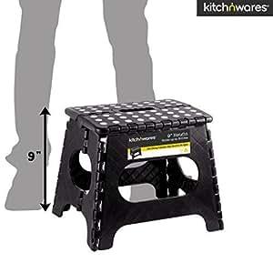 Amazon Com Folding Step Stool With Handle 9 Inch Heavy