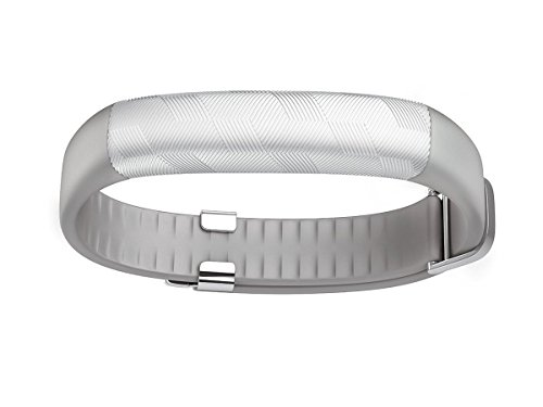 UP2 by Jawbone Project + Sleep Tracker, Light Grey Hex (Silver), Classic Flat Strap
