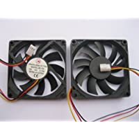 2 pcs Brushless DC Cooling Fan 12V 8015S 9 Blades 3 wire 80x80x15mm Sleeve-bearing Skywalking