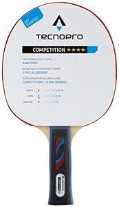 Tecnopro Tischtennis-Schläger Competition 4 Stern Tischtennisschläger,...