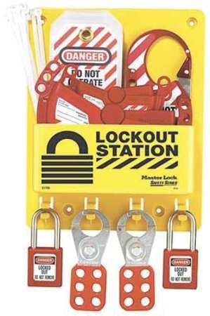 Master Lock Compact Lockout Center, Includes 1 Aluminum Padlock