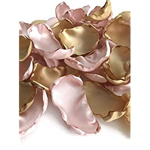 Blush and Gold 25 flower petals wedding decor bridal shower decor 115