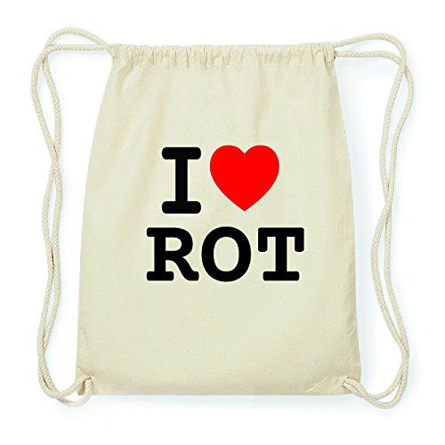 JOllify ROT Hipster Turnbeutel Tasche Rucksack aus Baumwolle - Farbe: natur Design: I love- Ich liebe lJK4VjP
