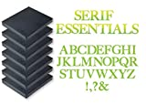 Sizzix Bigz Alphabet Set 7 Dies - Serif Essentials by E.L. Smith