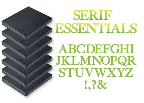 (Sizzix Bigz Alphabet Set 7 Dies - Serif Essentials by E.L. Smith)