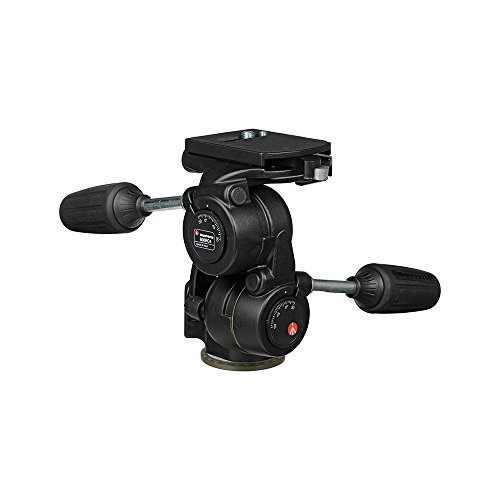 Manfrotto 808RC4 3-Way Standard Head with Quick Release Plate 410PL (Black)