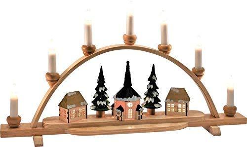 Lichterbogen ''Seiffener Kirche'' mit Innenbeleuchtung LxBxH 56 x 8 x 30,5 cm NEU Schwibbogen Fensterbild
