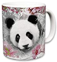 Sweet Gisele | Panda Mug | Bear Inspired Ceramic Coffee Cup | Rich and Vibrant Colors | Perfect Holiday Gift | Dishwasher & Microwave Safe | Great Novelty Item Animal Mugs | 11 Fl. Oz