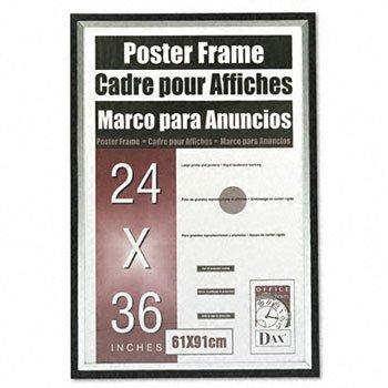 DAX® Metro Series Poster Frame FRAME,24X36,POSTER,BKSR (Pack of3 ...