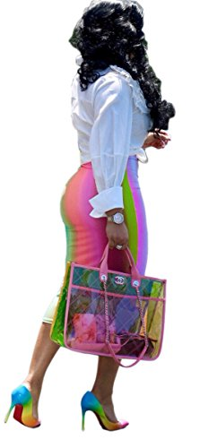 Qikaka Dye Femmes Rose Clubwear imprim Tie taille Stretchy jupes haute partie Bodycon 4xg1Br4q