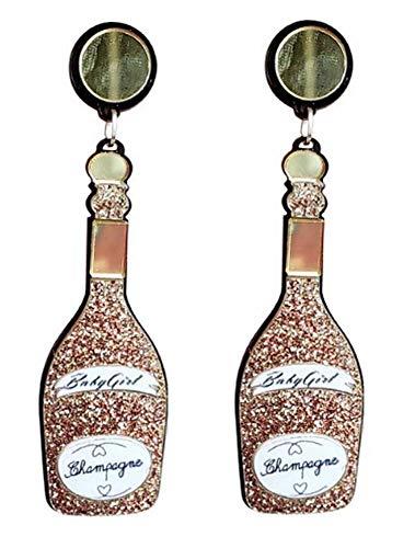 CutieJewelry Womens Champagne Bottle Sparkling Wine Party Celebration Novelty Costume Dangle Cute Pretty Earrings (Champagne)]()