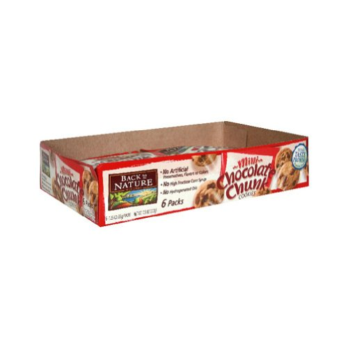 Back to Nature Chocolate Chunk Mini Cookies (4x6/1. 25OZ) by Back to Nature