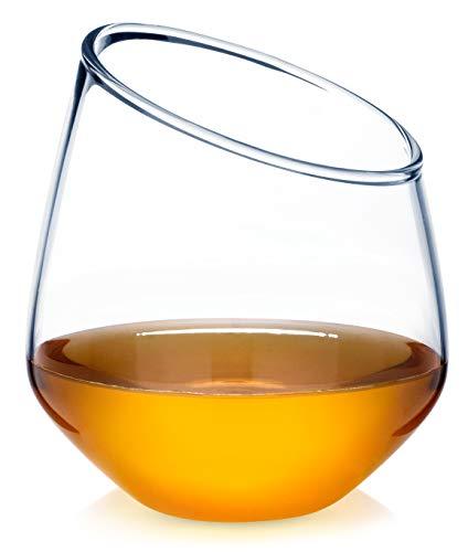 Dragon Glassware Crescent Whiskey Glasses, Premium Designer Tumblers for Whisky, Bourbon, Scotch, 12.5-Ounces, Gift Boxed - Set of 2