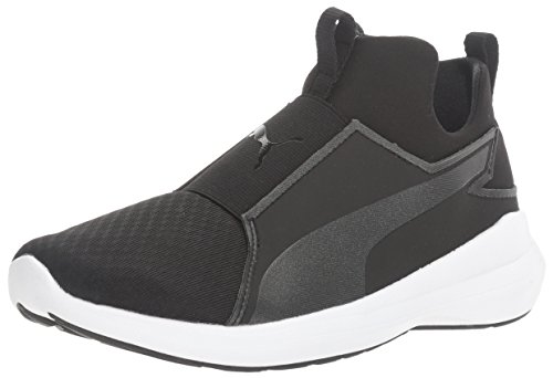 Puma Women's Rebel Mid WNS Cross-Trainer Shoe, Black Black White Puma Black-puma Black-puma White