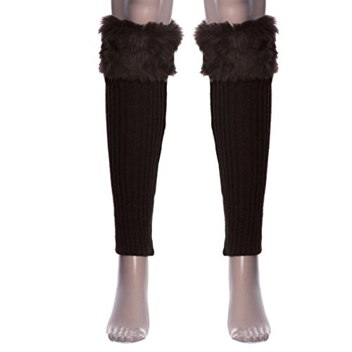 [Siniao 1 Pair Women Stretch Boot Leg Cuffs Adult Socks (Brown)] (Viking Outfits For Adults)
