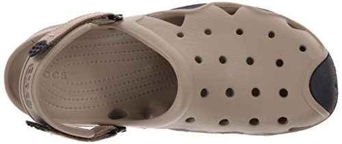 Crocs Mens Swiftwater Sabot Kaki / Noir