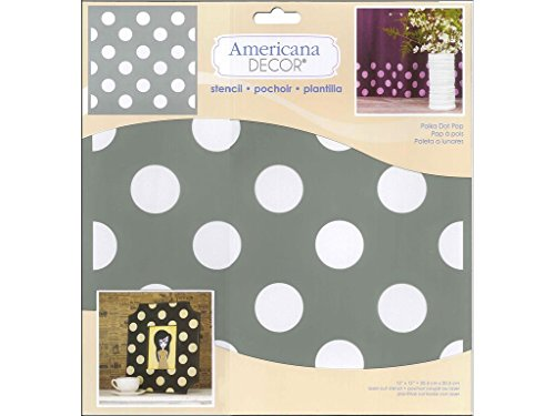 DecoArt Americana Decor Stencil Polka Dot Pop
