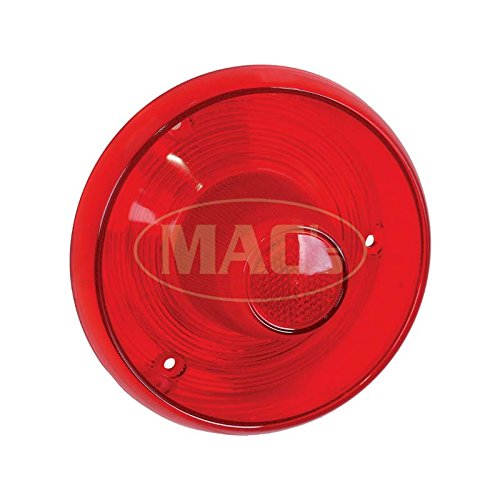 MACs Auto Parts 49-50354 Tail Light Lens - Plain - All Red - No Chrome - Ford Only