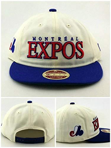 - New Era Montreal Expos 9Fifty Low Profile Retro Crown Vintage White Blue Snapback Hat Cap