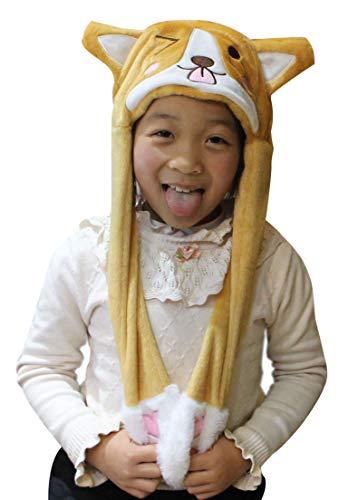 Animal Plush Adorable Winter Hat Cute Fun Warm Cap Soft Novelty One Size Adult&Teen (Corgi) -