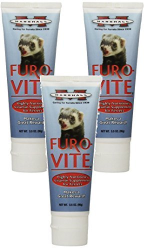 ((3 Pack) Marshall Furo-Vite Vitamin Supplement Paste for Ferrets, 3.5-Ounce Each)