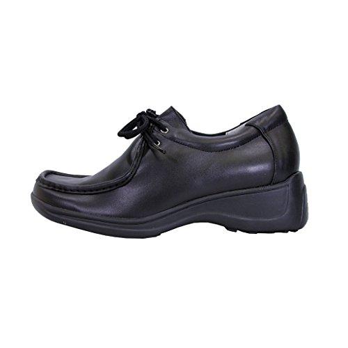 Black Cushioned Up Kris 24 Elegant Classic Hour Durable Comfort Shoes Women Leather Lace Wide Width UpFgqpS