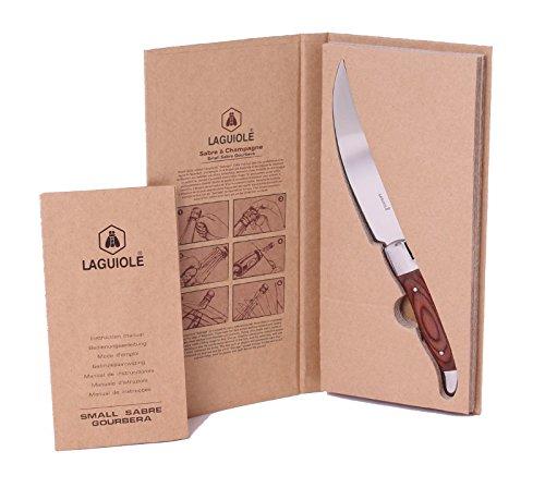 Laguiole kleiner Champagnersäbel/Sektsäbel in edler Holzbox Messer