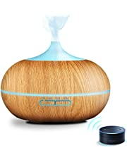 Fresher air! Reduce PM2.5! GX·Diffuser Smart Wi-Fi Diffuser,Works with Alexa & Google Home,APP Voice Control,300ml Room Humidifier for Yoga,Family and Sleep,Waterless Auto-Off