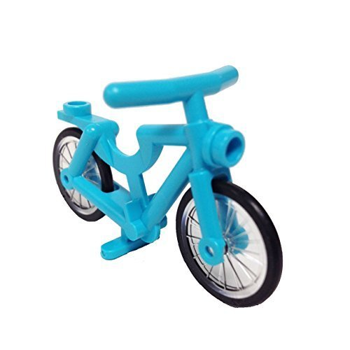 Lego Parts: Bicycle, Complete Assembly (Medium Azure) (Medium Assembly)