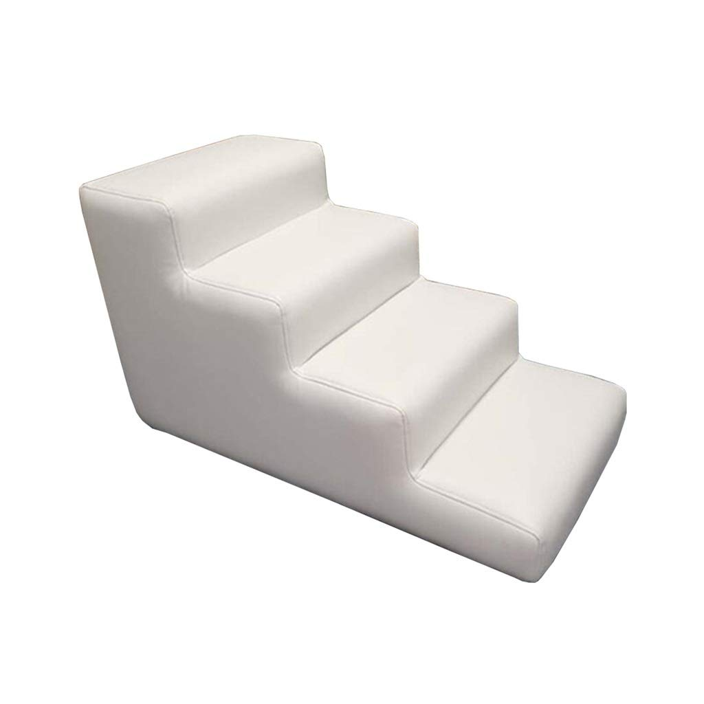 804048cm Pet Pet Stairs, Dog Stairs Sponge Stairs Ladders Climbing Ladders Middle And Small Dogs Climbing White 3 Layers (Size   80  40  48cm)