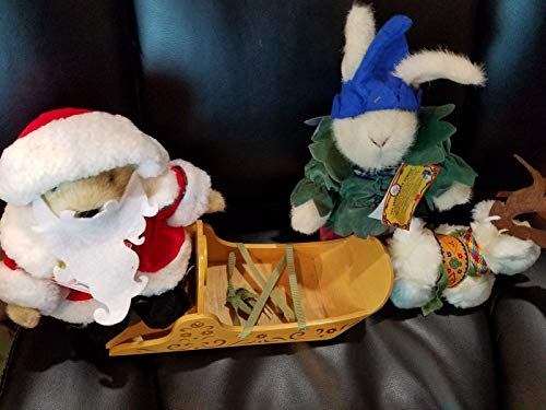 Santa's Workshop Muffy Santa & Hoppy North Pole collection Sleigh and LuLu ()