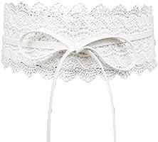 d50670903b0 Uzinb Large Dentelle Corset Ceinture Femme Tie Auto Cinch Waistband  Ceintures pour Femmes Robe de mariée Taille Band. Chargement des images en  cours.