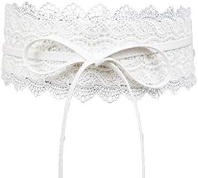 1dcffc7ef0c Uzinb Large Dentelle Corset Ceinture Femme Tie Auto Cinch Waistband  Ceintures pour Femmes Robe de mariée Taille Band