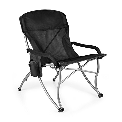 (ONIVA - a Picnic Time Brand PT-XL Over-Sized 400-Lb. Capacity Outdoor Folding Camp Chair, Black)