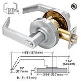 Heavy-Duty Chrome Grade 2 Lever Locksets Storeroom - 7-Pin SFIC