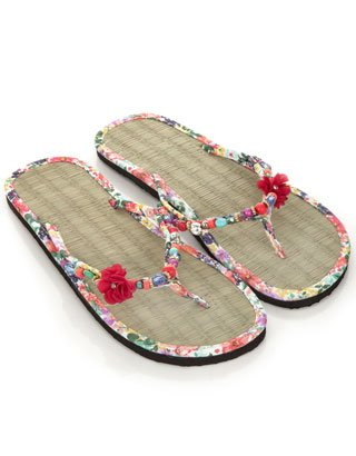 ac935219d Accessorize FLEUR CHARM SEAGRASS FLIP FLOPS  Amazon.co.uk  Shoes   Bags