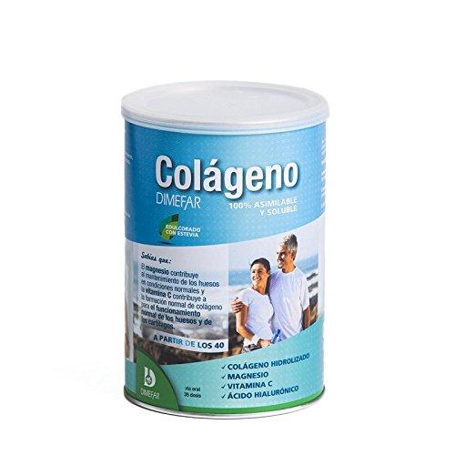 Colágeno Dimefar Bote 350g con ácido hialuronico, magnesio y vitamina C: Amazon.es: Salud y cuidado personal