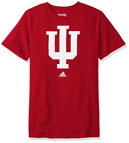 Addidas NCAA Men's Indiana Hoosiers Primary Logo Short Sleeve Tee - Medium
