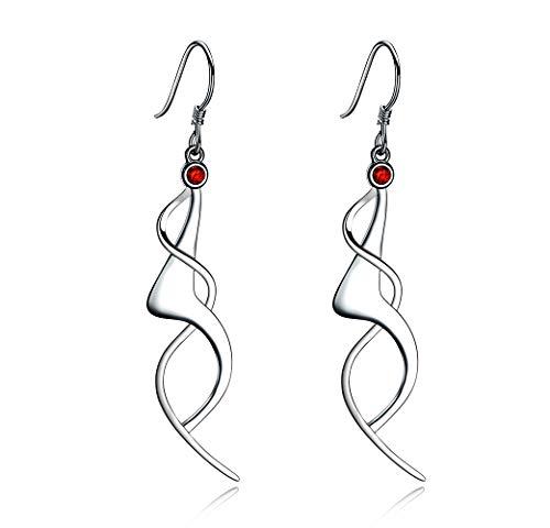 Politeny Dancing Girls Filigree Fashion 925 Sterling Silver Dangle Earrings for Women