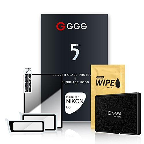 GGS 5th Glass Screen Protector and Sunshade Hood for Nikon D5
