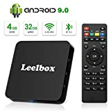 Android 9.0 TV Box, Leelbox 2019 Newest Android Box 4GB RAM 32GB ROM