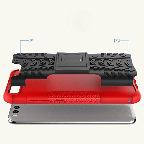 OFU®Para Xiaomi Mi6 5.15 Smartphone, Híbrido caja de la armadura para el teléfono Xiaomi Mi6 5.15 resistente a prueba de golpes contra la lucha de viaje accesorios esenciales del teléfono-rojo azul