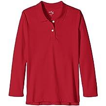 Scout + Ro Girls' Long-Sleeve Interlock Uniform Polo Shirt