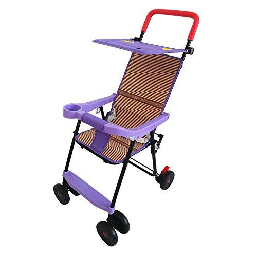 ベビーカー 超軽量3.6kg 簡単折りたたみ 手プッシュベビーカート 高級マットクッション (1ヶ月~36ヶ月頃対象) 紫  紫 B07G5WY9SJ