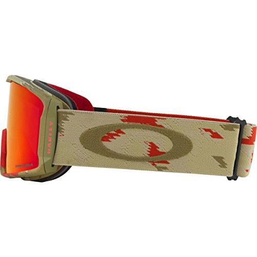 Oakley Line Miner Asian Fit Snow Goggles, Razor Camo/Red Frame, Prizm Torch Iridium Lens, Medium ()