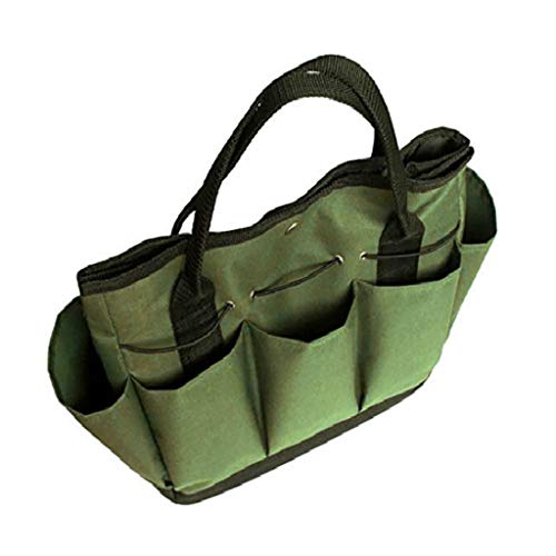 ( Orcbee  _Gardening Tote Bag with Pockets for Tools Green)