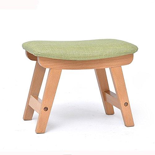 LQQGXL European chair Solid wood stool, fabric stool adult shoes stool sofa stool portable fishing stool (Color : A) by LQQGXL