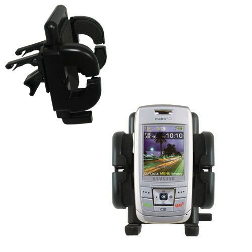 Gomadic Air Vent Clip Based Cradle Holder Car / Auto Mount suitable for the Samsung SCH-R400 R410
